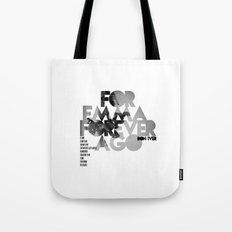 For Emma, Forever Ago - Bon Iver / Cover Art LP Tote Bag