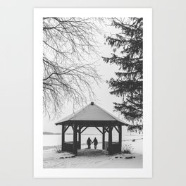 Winter is better with a friend Art Print