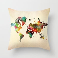 A Painted World Throw Pillow
