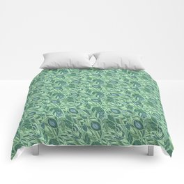 Marine Feather Pattern Ornament Comforters