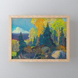 Canadian Landscape Franklin Carmichael Art Nouveau Post-Impressionism Autumn Hillside Framed Mini Art Print