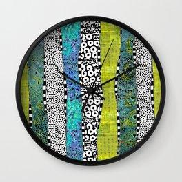Happy Stripe Wall Clock