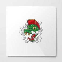 Super Dog Logo Mascot Metal Print