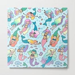Magical Mermaids Metal Print