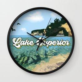 Lake Superior Retro Wall Clock