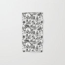 Alice in Wonderland | Toile de Jouy | Black and White Hand & Bath Towel