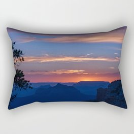 Colorful Sunset - North_Rim, Grand_Canyon, AZ Rectangular Pillow