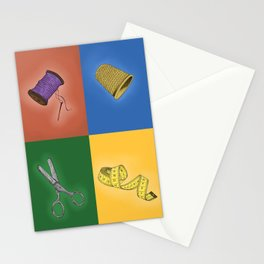 The tailor's kit Stationery Cards