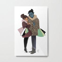 Ronnie and Elia Metal Print