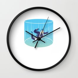 Indoor Skydiving Vertical Wind Tunnel Skydiver Extreme Sports Adventure Gifts Wall Clock