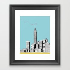 A Scribble in the Sky Framed Art Print