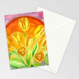 Tulip Flower Bouquet - Watercolor Painting Stationery Cards