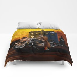 10th Doctor who with Big Motorcycle Comforters