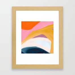 Let Go - no.36 Shapes and Layers Framed Art Print