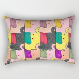 """""""Whatever. repeating"""" - abstract pattern Rectangular Pillow"""