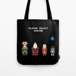 Avatar Selection Screen Tote Bag