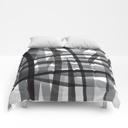 grey crossed stripes Comforters