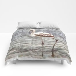 Find Your Footing And Stand Firm Watercolor Comforters