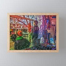 Moonflower Boutique Display Window Framed Mini Art Print