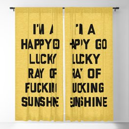Ray Of Fucking Sunshine Funny Quote Blackout Curtain