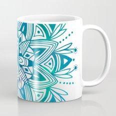 Mandala - Blue Green Watercolor Mug