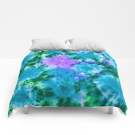 Blue Fun Guy Mushrooms Comforters