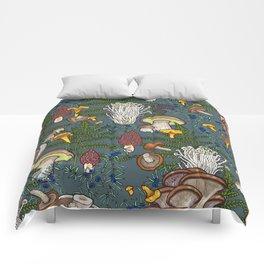 mushroom forest Comforters