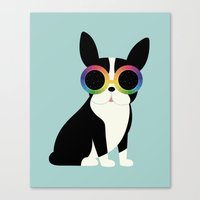 work hard Canvas Prints featuring Work Hard Play Harder by Andy Westface