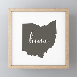 Ohio is Home Framed Mini Art Print