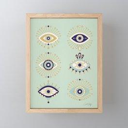 Evil Eye Collection Framed Mini Art Print