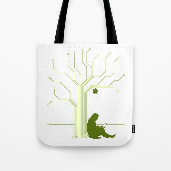 Apple CircuiTree Tote Bag