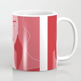 Woman #illustration #beautiful #portrait #abstract #art #red #pink #buyart #society6 #artstyle Coffee Mug