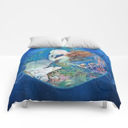 Sensual Art Deco Pearl Mermaid Comforters
