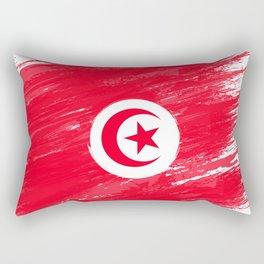 Tunisia's Flag Design Rectangular Pillow