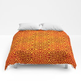 Chinese red gold 1 Comforters