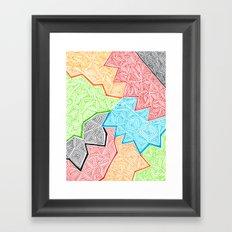 Trianglez Framed Art Print