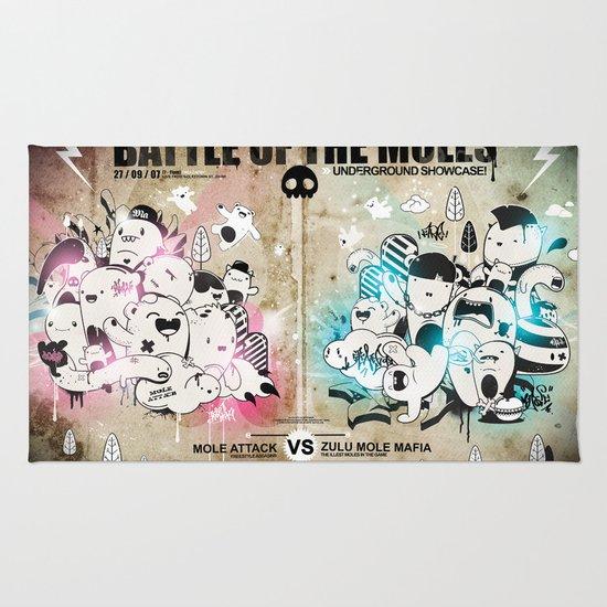 Battle of the moles Rug