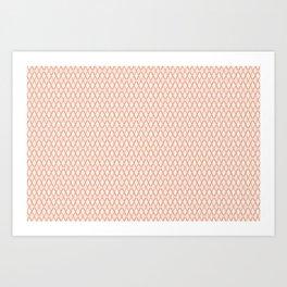 Crosshatch Orange Art Print