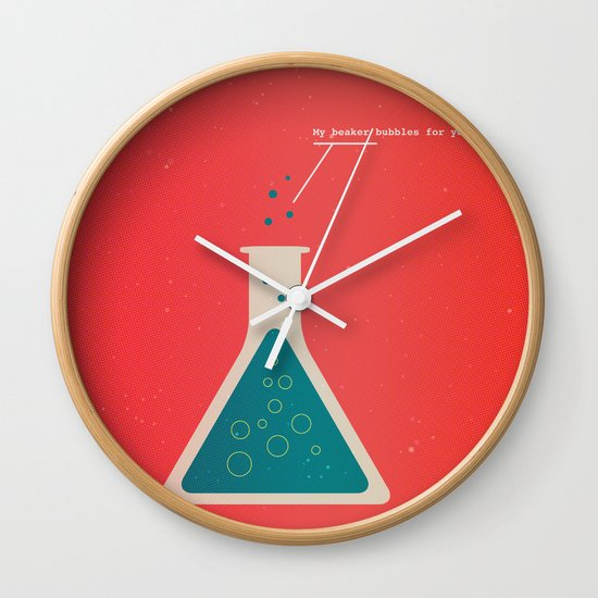 My Beaker Bubbles For You  Wall Clock