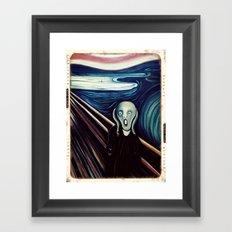 The Scream  Framed Art Print
