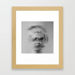 The Unknown selfie Framed Art Print