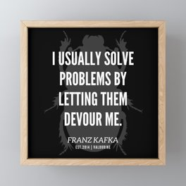 28  |  Franz Kafka Quotes | 190517 Framed Mini Art Print