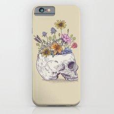 Half Skull Flowers iPhone 6 Slim Case