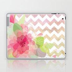Chevron Flowers Laptop & iPad Skin