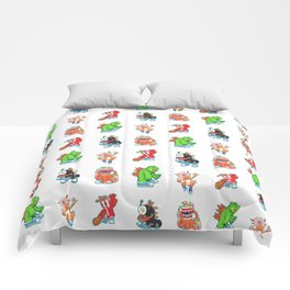 Kaiju Food Monsters Pattern #2 Comforters