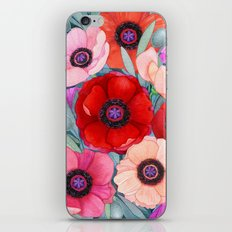 Poppy and Olive Watercolor  iPhone & iPod Skin