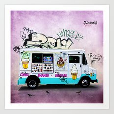 Ice Cream Truck Art Print