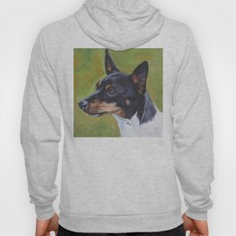 TOY FOX TERRIER dog art portrait from an original painting by L.A.Shepard Hoody