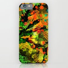 Abstract Art with flowers iPhone 6s Slim Case
