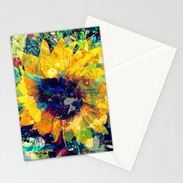 Sunflower Batik Stationery Cards